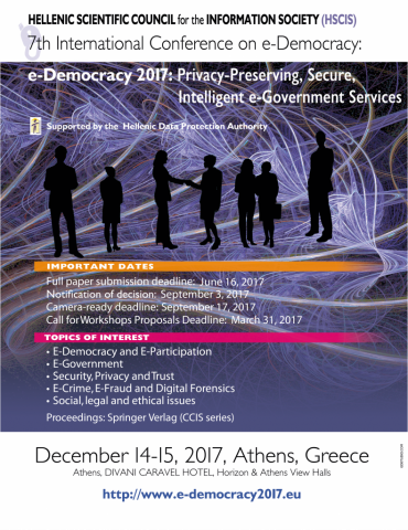 eDemocracy2017 Conference Poster
