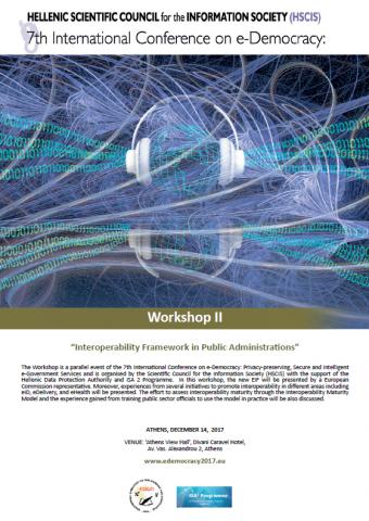 Workshop Agenda Interoperability Framework for Public Administrations